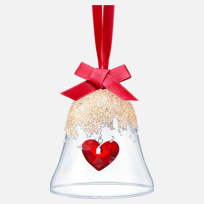 swarovski christmas bell ornament heart 5464881
