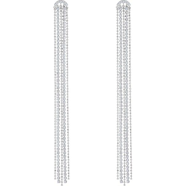 swarovski fit pierced tassell earrings white rhodium plated 5490190