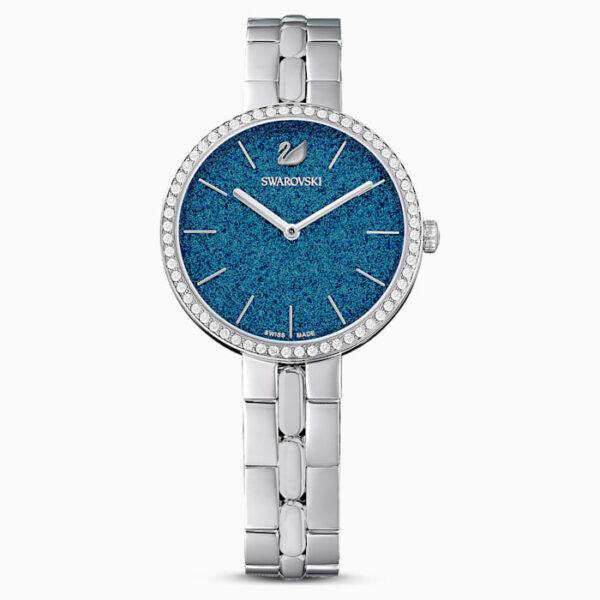 Ρολόι cosmopolitan μεταλλικό μπρασελέ μπλε ανοξείδωτο ατσάλι swarovski 5517790