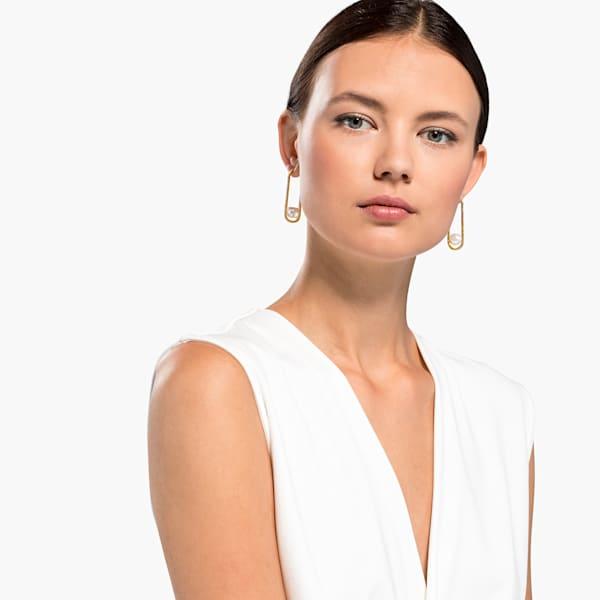 Swarovski So Cool Pearl Pierced Earrings, White, Gold-tone plated 5512736 var1