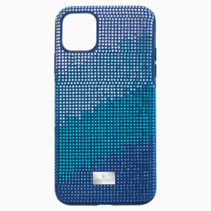 swarovski crystalgram smartphone case with bumper iphone®11 pro max blue swarovski 5533965