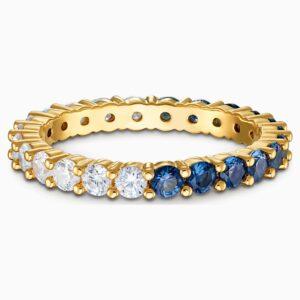 swarovski vittore half xl ring blue gold tone plated