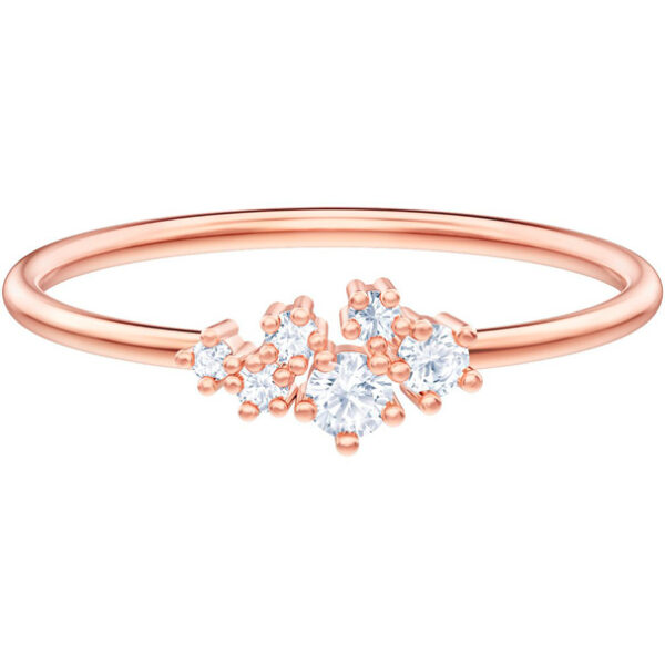 Penélope Cruz Moonsun Ring, White, Rose-gold tone plated