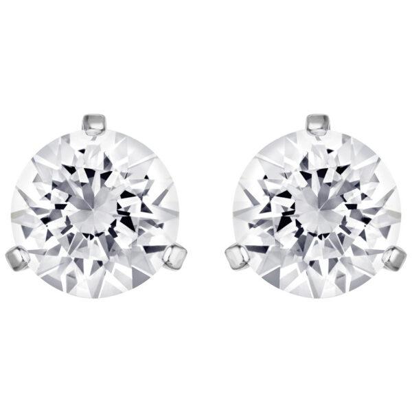 Solitaire Pierced Earrings