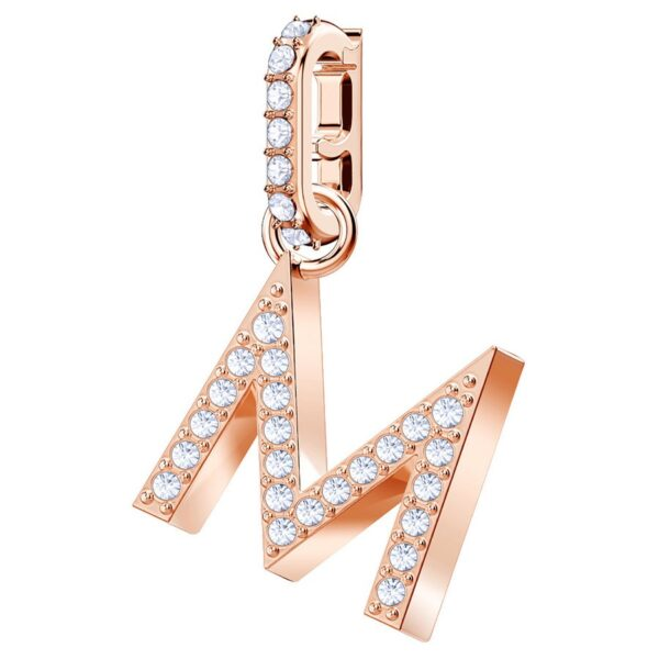 Swarovski Remix Collection Charm M, White, Rose gold plating