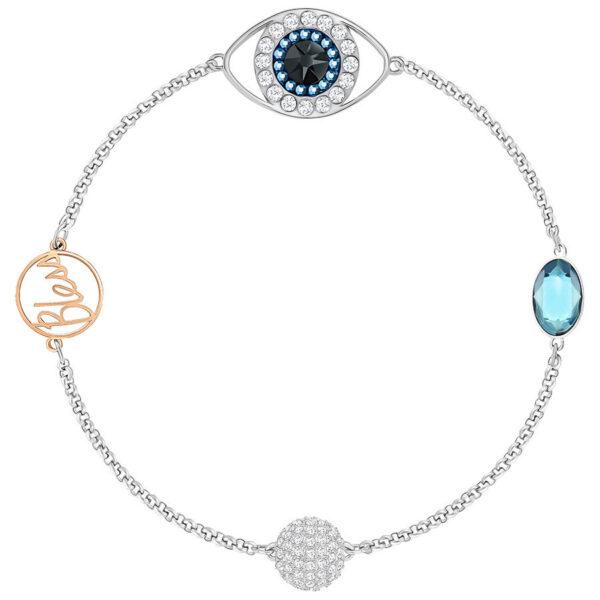 Swarovski Remix Collection Eye Symbol, Blue, Mixed plating
