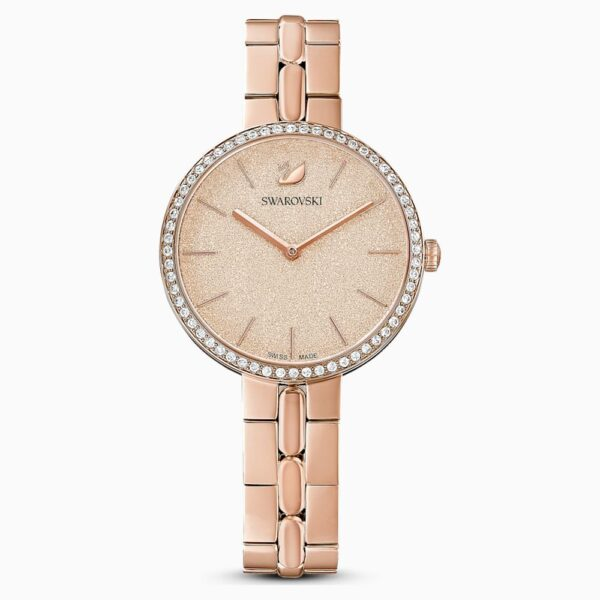 Cosmopolitan Watch, Metal bracelet, Pink, Rose-gold tone PVD