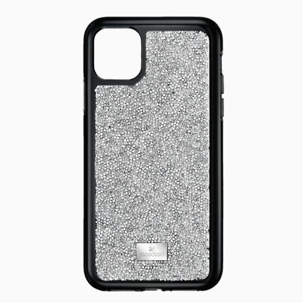 swarovski glam rock smartphone case with bumper iphone® 11 pro silver tone swarovski 5516873