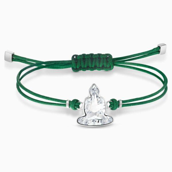 Swarovski Power Collection Buddha Bracelet, Green, Stainless steel