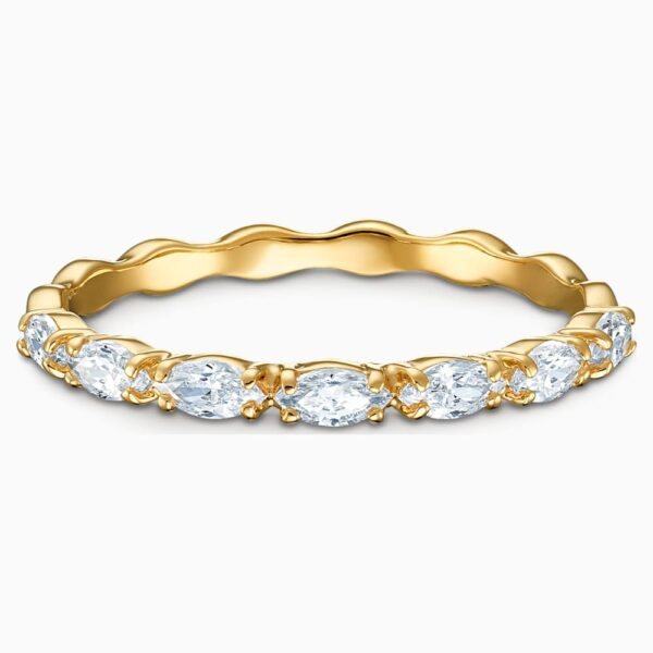 Vittore Marquise Ring, White, Gold-tone plated