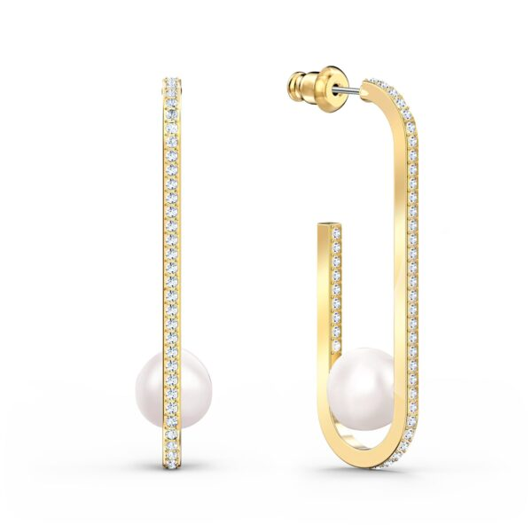 Swarovski So Cool Pearl Pierced Earrings, White, Gold-tone plated 5512736