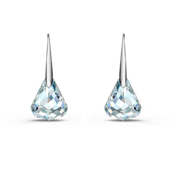 Swarovski Spirit Pierced Earrings, White, Rhodium plated 5516533