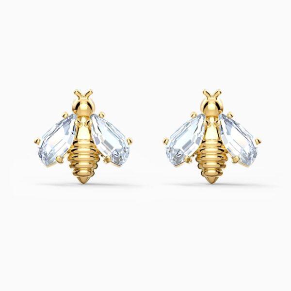 swarovski eternal flower bee pierced earrings white gold tone plated swarovski 5518143