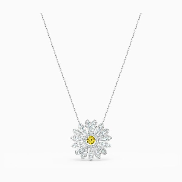 swarovski eternal flower pendant yellow rhodium plated swarovski 5512660