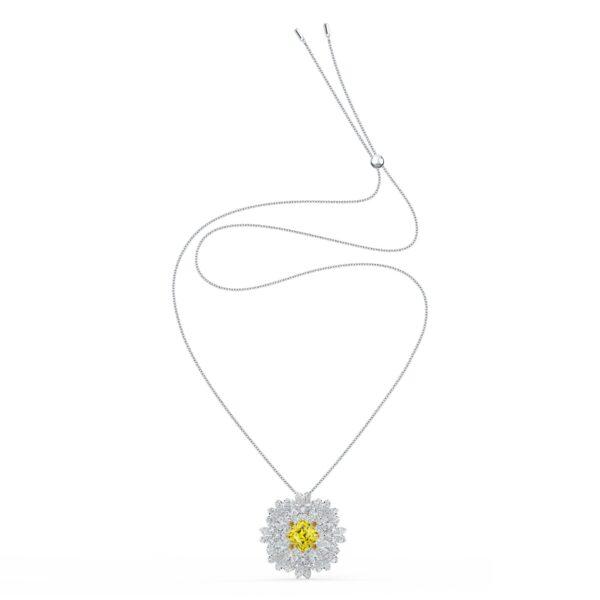 Swarovski Eternal Flower Brooch, Yellow, Mixed metal finish 5518147 var1