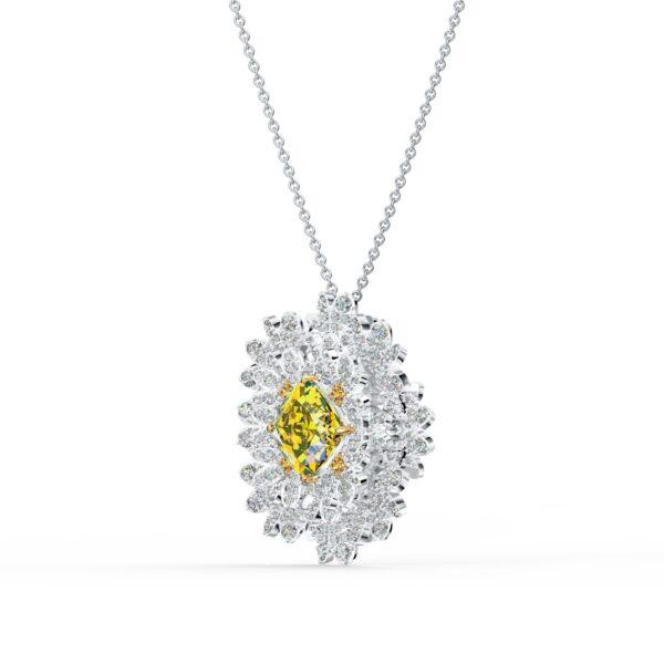 Swarovski Eternal Flower Brooch, Yellow, Mixed metal finish 5518147 var2