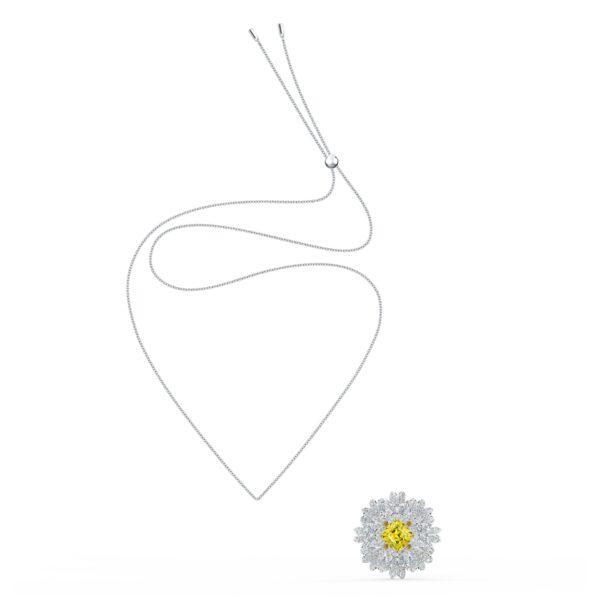 Swarovski Eternal Flower Brooch, Yellow, Mixed metal finish 5518147 var3