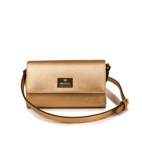 Hunter Γυναικεία τσάντα flap GC Χρυσό 54002029 g 1