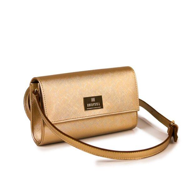 Hunter Γυναικεία τσάντα flap GC Χρυσό 54002029 g 2