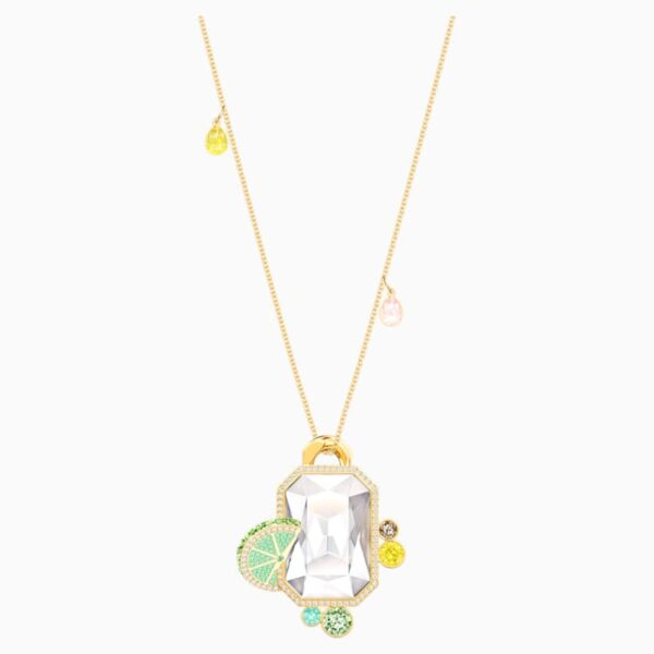 swarovski no regrets pendant multi colored gold tone plated swarovski 5480241