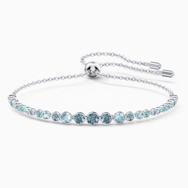 swarovski emily gradient bracelet blue rhodium plated swarovski 5562130