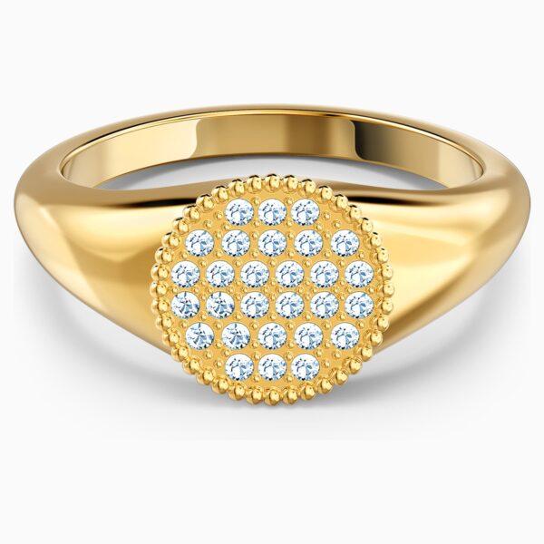 swarovski ginger signet ring white gold tone plated swarovski