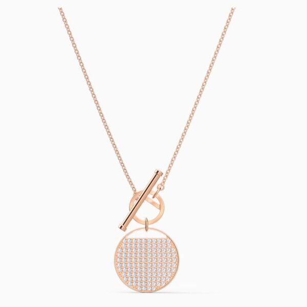 swarovski ginger t bar necklace white rose gold tone plated swarovski 5567529