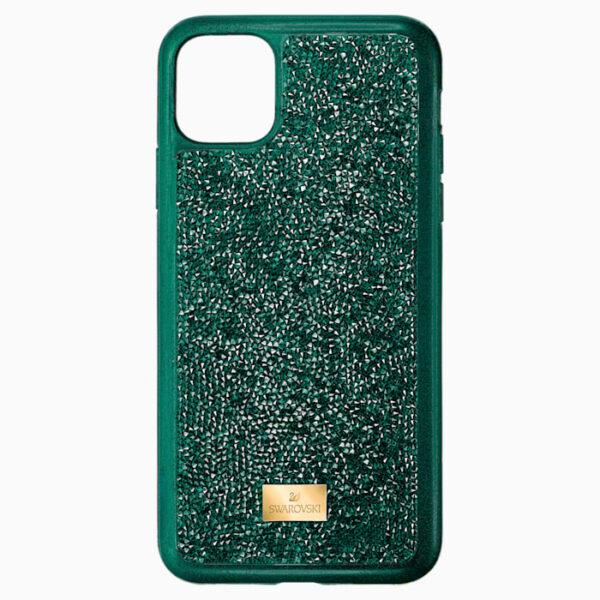 swarovski glam rock smartphone case with bumper iphone® 11 pro green swarovski 5549939