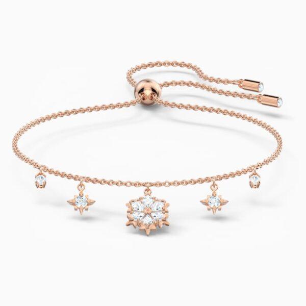 swarovski magic bracelet white rose gold tone plated swarovski 5558186