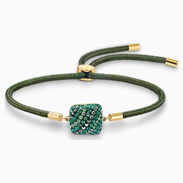 swarovski power collection earth element bracelet green gold tone plated swarovski 5558350