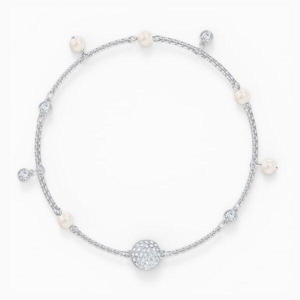 swarovski remix collection delicate pearl strand white rhodium plated swarovski 5560661