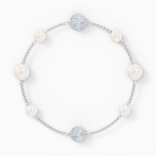 swarovski remix collection pearl strand white rhodium plated swarovski 5560665