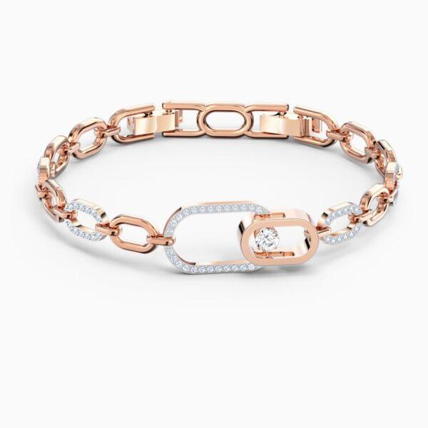 swarovski sparkling dance north bracelet white mixed metal finish swarovski 5554217