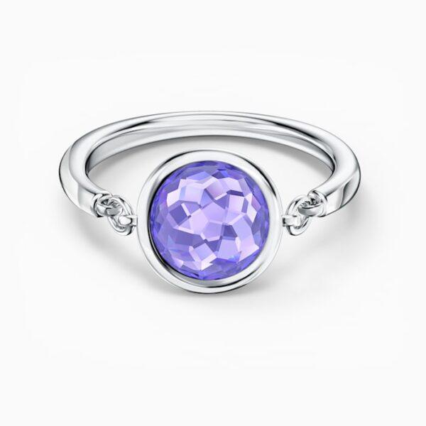swarovski tahlia ring purple rhodium plated swarovski 5560946