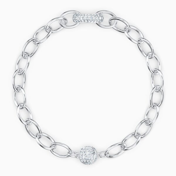 swarovski the elements chain bracele white rhodium plated swarovski 5560662