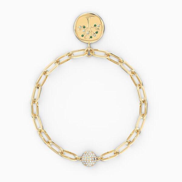 swarovski the elements tree bracelet green gold tone plated swarovski 5569178