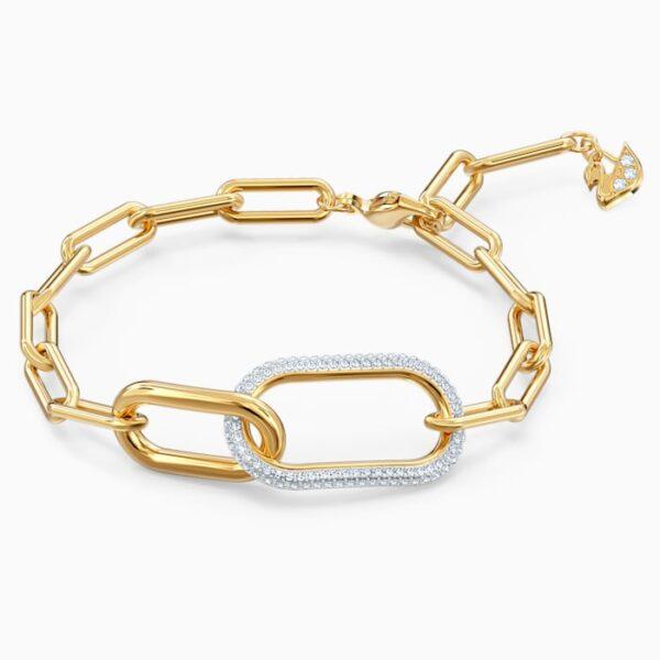 swarovski time bracelet white mixed metal finish swarovski 5566003