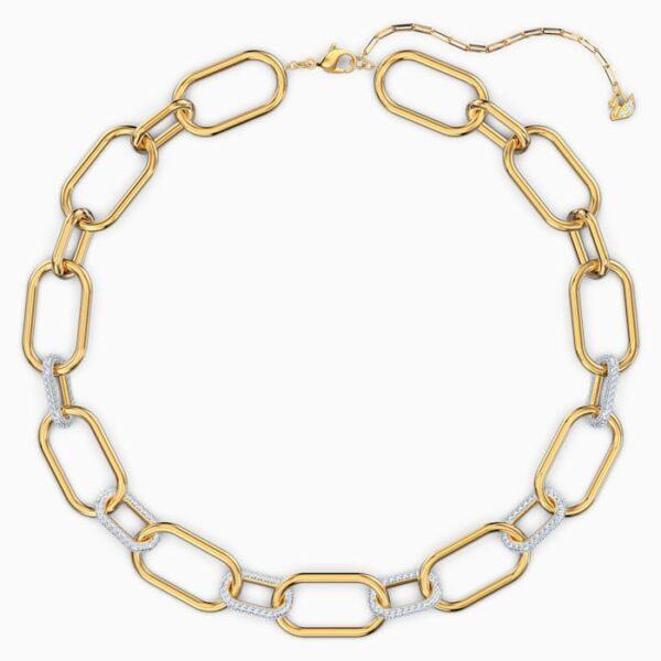 swarovski time necklace white mixed metal finish swarovski 5558521