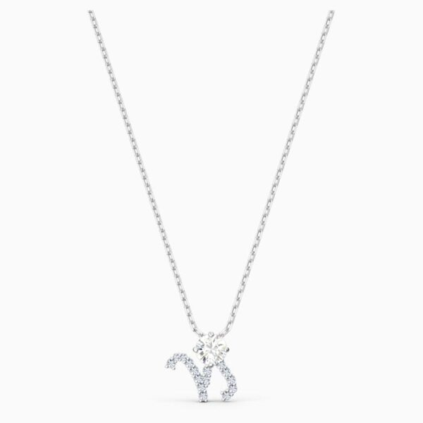 swarovski zodiac ii pendant capricorn white mixed metal finish swarovski 5563892