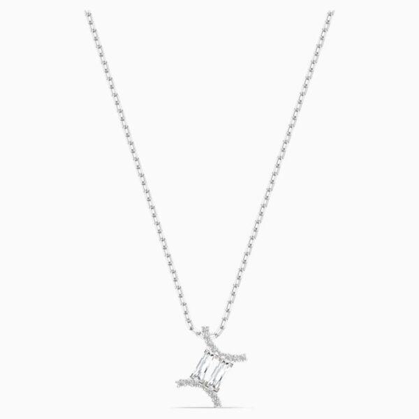swarovski zodiac ii pendant gemini white mixed metal finish swarovski 5563893