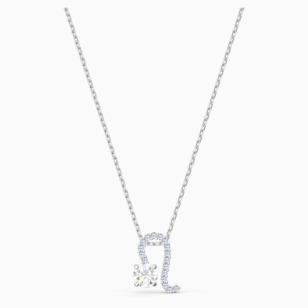swarovski zodiac ii pendant leo white mixed metal finish swarovski 5563894