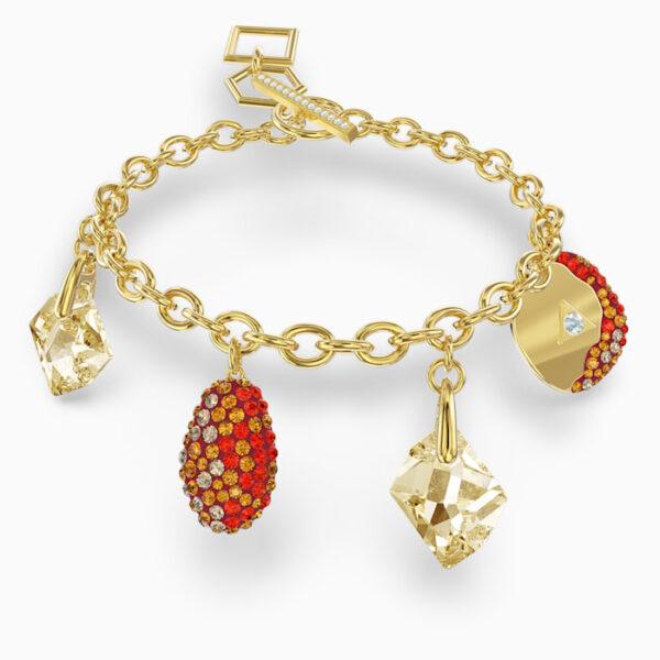 swarovski the elements bracelet red gold tone plated swarovski 5567361